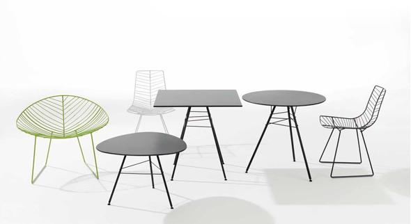 Die neue Tischserie leaf von arper - Design by Lievore Altherr Molina