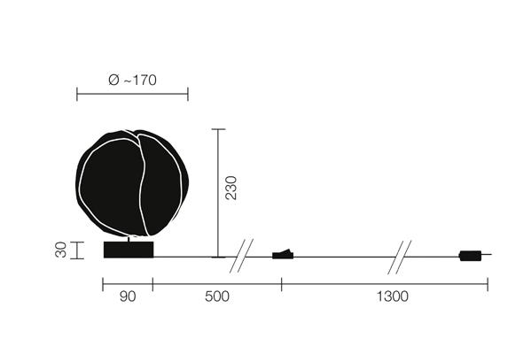 BABYCLOUD LED (Angaben in mm)