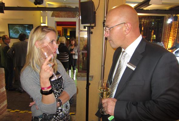 Andrea Jermer mit Jörg Backert im Gespräch