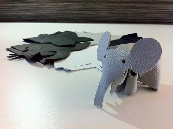 Elephant aus echtem Walter Knoll Leder