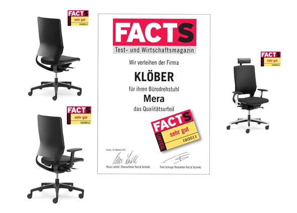 """Der Mera von Klöber erhält das FACTS Urteil """"sehr gut"""""""