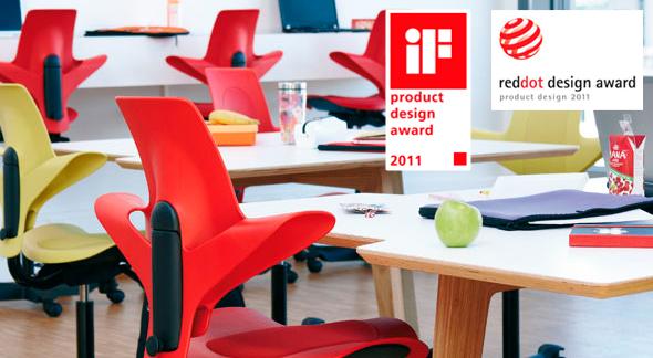 Ausgezeichnet mit drei bedeutenden Design-Preisen: der HAG Capisco Puls