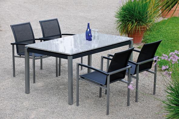 Chairholder Aluminiummöbel mit Textilen