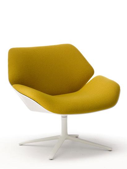 cor shrimp drehsessel nussbaum wei 72122. Black Bedroom Furniture Sets. Home Design Ideas