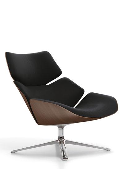 cor shrimp drehsessel eiche dunkel schwarz 72122 produktdetails. Black Bedroom Furniture Sets. Home Design Ideas