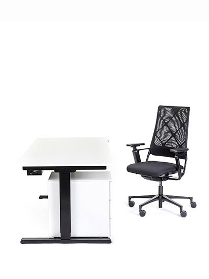 Chairholder Sets - Home Office Sets - T-Tisch 180 - S-Container - Connex