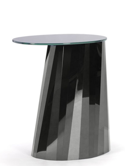 ClassiCon GmbH - Pli Side Table - high, Onyx-schwarz