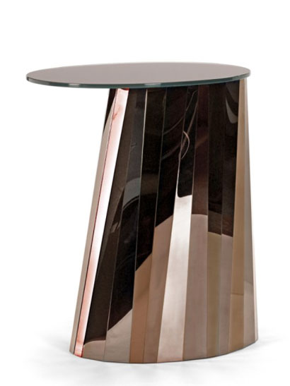ClassiCon GmbH - Pli Side Table - high, Pyrit-bronze