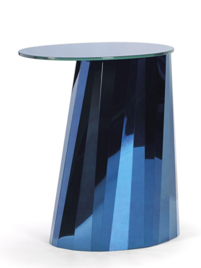 ClassiCon GmbH - Pli Side Table - high, Saphir-blau