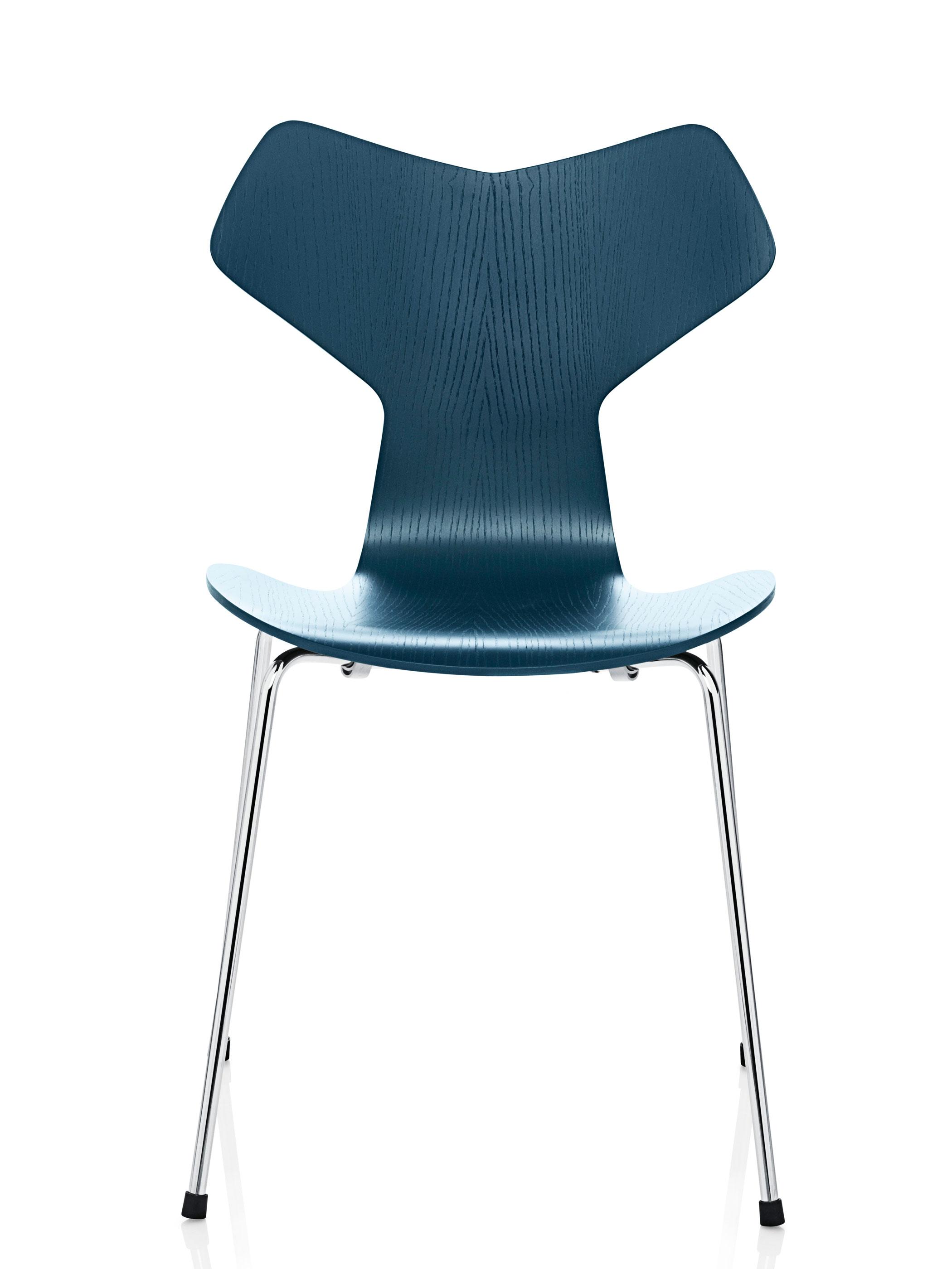 fritz hansen grand prix 3130 gef rbte esche petrol blau produktdetails. Black Bedroom Furniture Sets. Home Design Ideas
