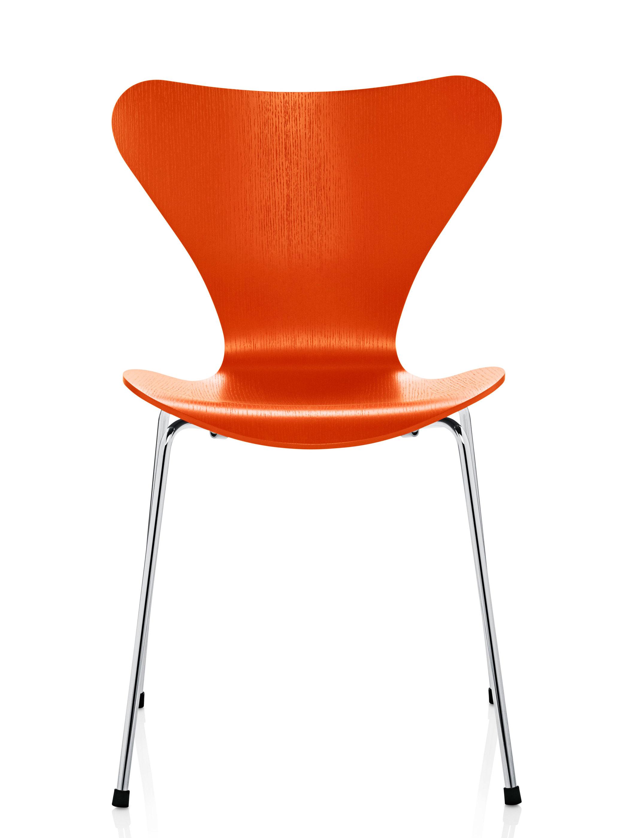 fritz hansen serie 7 3107 gef rbte esche orange produktdetails. Black Bedroom Furniture Sets. Home Design Ideas
