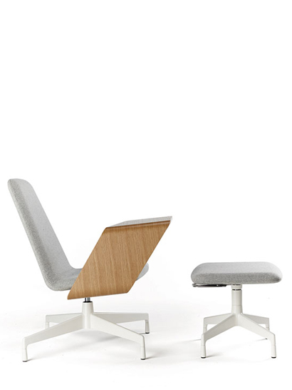 Haworth  - Harbor Working Lounge - Lounge Chair mit Ottomane
