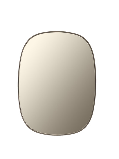 Muuto - FRAMED Mirror - 21913 Taupe/Taupe glass