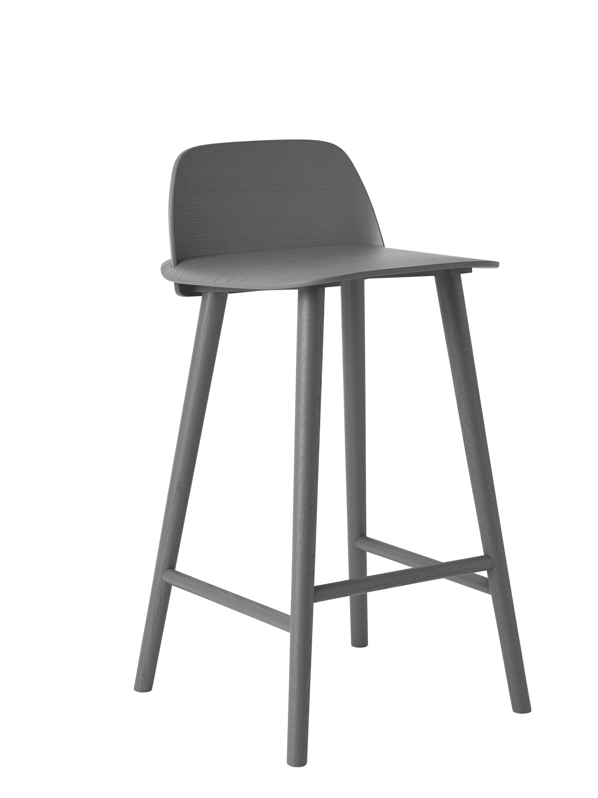 Muuto nerd bar stool barhocker dark grey produktdetails for Barhocker petrol