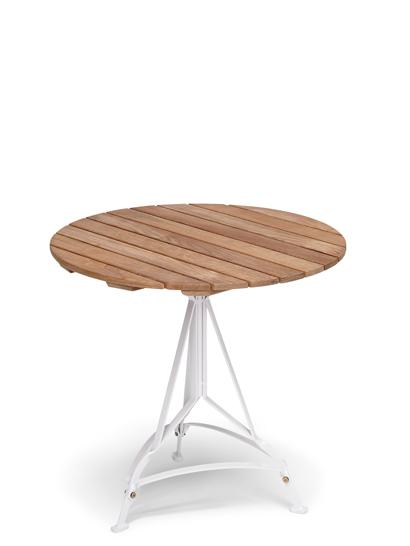skagerak grenen tisch rund teak steel light grey. Black Bedroom Furniture Sets. Home Design Ideas