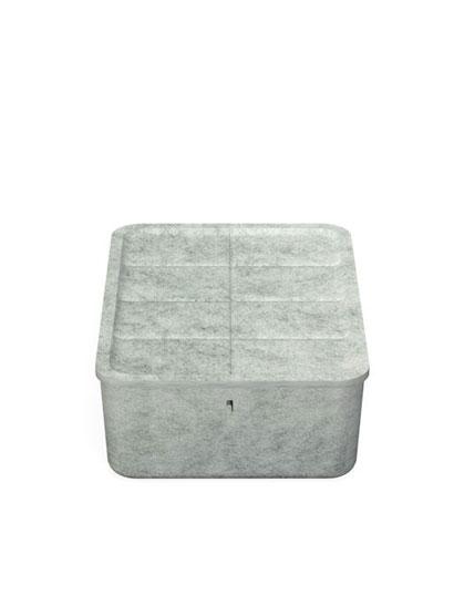 USM Haller - USM Inos Box - tief 250, Tablett