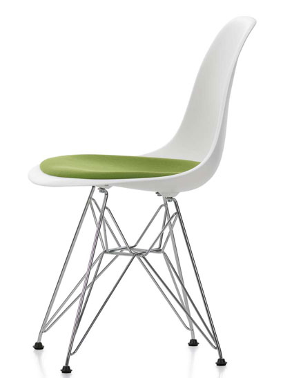 Vitra - Eames Plastic Side Chair - DSR mit Sitzpolster
