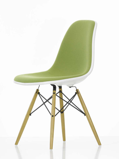 Vitra - Eames Plastic Side Chair - DSW Ahorn Vollpolster