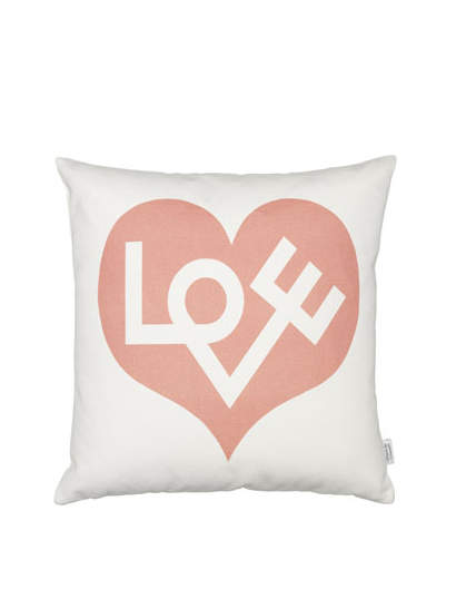 Vitra - Graphic Print Pillows - Love pink