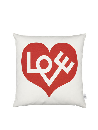 Vitra - Graphic Print Pillows - Love red