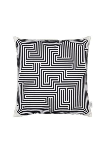 Vitra - Graphic Print Pillows - Maze, black