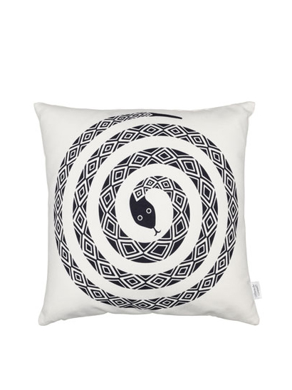 Vitra - Graphic Print Pillows - Snake, black