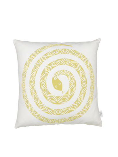 Vitra - Graphic Print Pillows - Snake, mustard