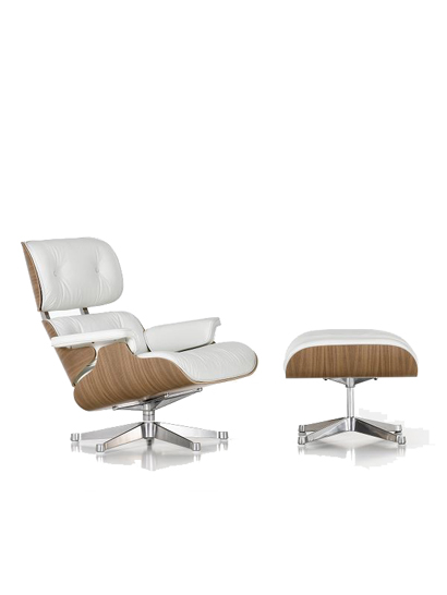 Vitra lounge chair 41208600w for Vitra lounge chair nachbau