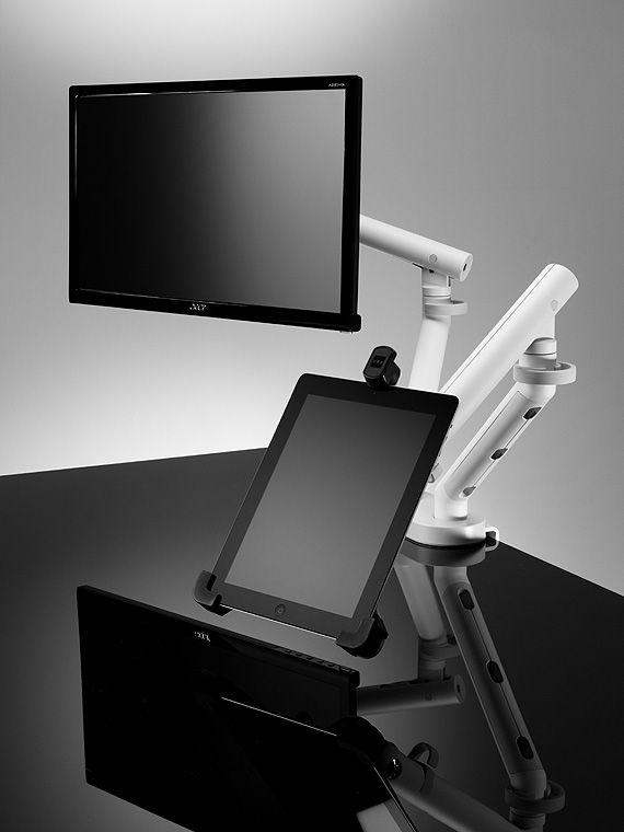 cbs flo dual dynamic arm mit halterung f r bildschirm und tablet produktdetails. Black Bedroom Furniture Sets. Home Design Ideas