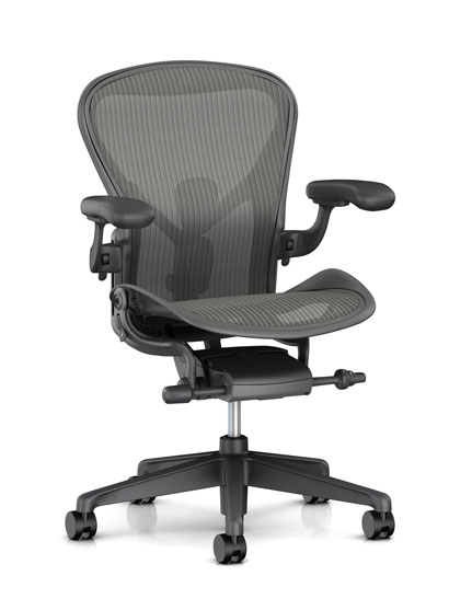 Herman Miller - Aeron remastered (New Aeron) - AER1Carbon / Carbon