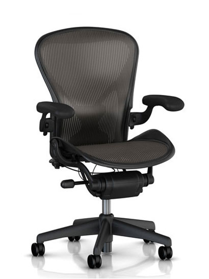"Herman Miller - Aeron classic - AU123 ""fully loaded"" Graphite"