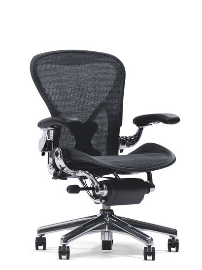 "Aeron - Herman Miller - AU 123 ""fully loaded"" Aluminium"